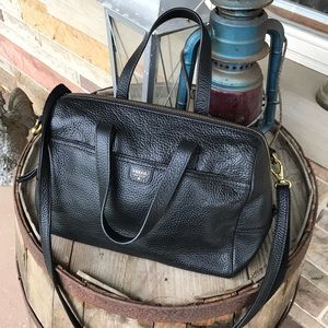 Fossil Pebbled Leather Bag